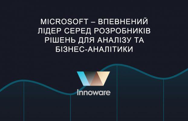 Microsoft – впевнений лідер серед розробників рішень для аналізу та бізнес-аналітики
